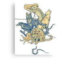Metal Gear - Animals Characters Canvas Print