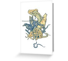 Metal Gear - Animals Characters Greeting Card