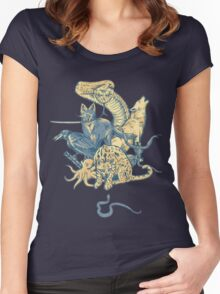 Metal Gear - Animals Characters Women's Fitted Scoop T-Shirt