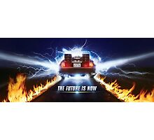 Back to the Future Poster Photographic Print