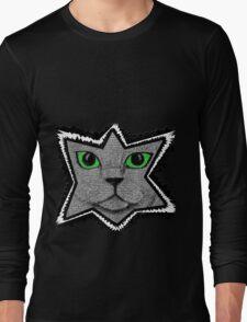 Peeking Pixel Cat Long Sleeve T-Shirt