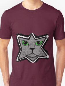 Peeking Pixel Cat Unisex T-Shirt