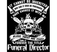 Undertaker funeral director voice Badass funeral director mug funeral  Photographic Print