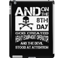 Arm Vector Cold Tower Background heavy equipment operators  Bolt  iPad Case/Skin