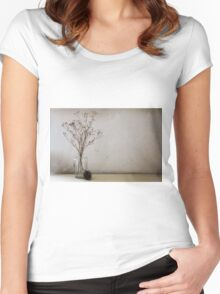 Contemporary flower seed in glass jar Women's Fitted Scoop T-Shirt
