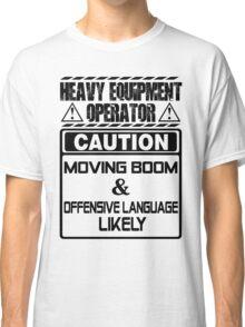 Background Vector Bolt  heavy equipment operator heavy equipment opera Classic T-Shirt