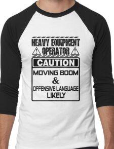 Background Vector Bolt  heavy equipment operator heavy equipment opera Men's Baseball ¾ T-Shirt