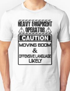 Background Vector Bolt  heavy equipment operator heavy equipment opera Unisex T-Shirt
