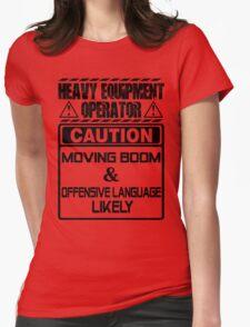 Background Vector Bolt  heavy equipment operator heavy equipment opera Womens Fitted T-Shirt