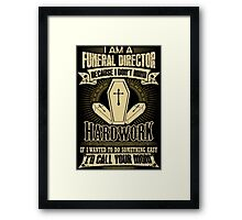 Undertaker funeral director funeral director license plate funeral dir Framed Print