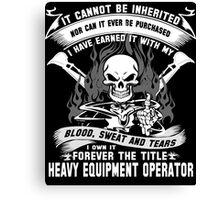 heavy equipment operator Animated Bolt Vector heavy equipment operator Canvas Print
