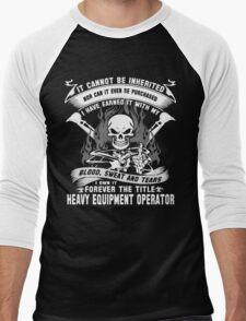 heavy equipment operator Animated Bolt Vector heavy equipment operator Men's Baseball ¾ T-Shirt