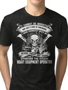 heavy equipment operator Animated Bolt Vector heavy equipment operator Tri-blend T-Shirt