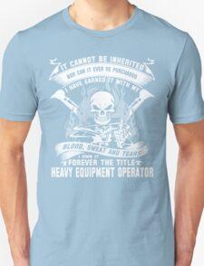 heavy equipment operator Animated Bolt Vector heavy equipment operator T-Shirt