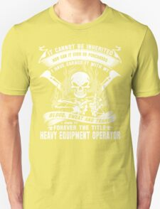 heavy equipment operator Animated Bolt Vector heavy equipment operator T-Shirt