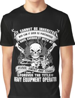 heavy equipment operator Animated Bolt Vector heavy equipment operator Graphic T-Shirt