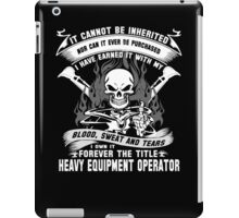 heavy equipment operator Animated Bolt Vector heavy equipment operator iPad Case/Skin