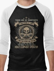 Cold  heavy equipment operator Tower heavy equipment operator Heavy Eq Men's Baseball ¾ T-Shirt