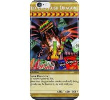 Red Eyes Kush Dragon  iPhone Case/Skin