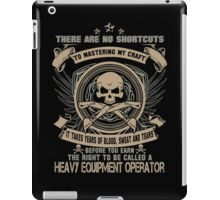 Cold  heavy equipment operator Tower heavy equipment operator Heavy Eq iPad Case/Skin