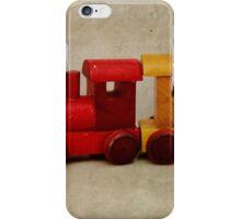 A little Wooden Train iPhone Case/Skin