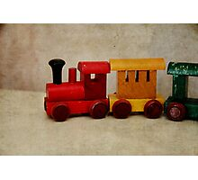 A little Wooden Train Photographic Print