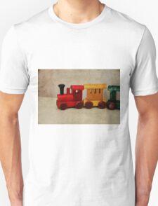 A little Wooden Train Unisex T-Shirt