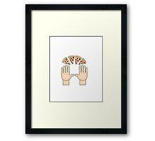 Pizza emoji Framed Print