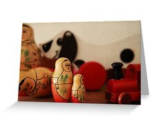 Vintage wooden toys Greeting Card