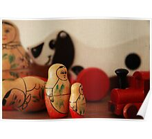Vintage wooden toys Poster