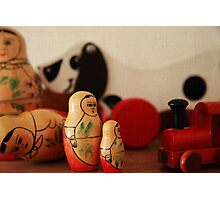 Vintage wooden toys Photographic Print