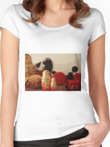 Vintage wooden toys Women's Fitted Scoop T-Shirt