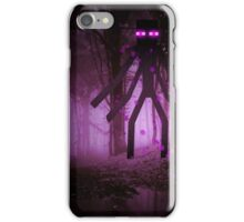 Minecraft: Mutant Enderman in forest iPhone Case/Skin