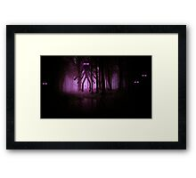 Minecraft: Mutant Enderman in forest Framed Print