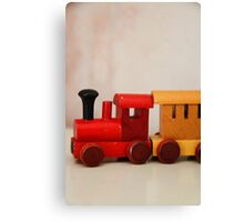 A cute little wooden train Canvas Print