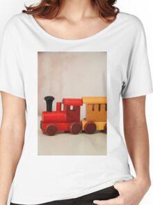 A cute little wooden train Women's Relaxed Fit T-Shirt