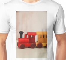 A cute little wooden train Unisex T-Shirt