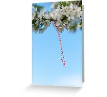 Martenitsa. Bulgarian Baba Marta Day Greeting Card