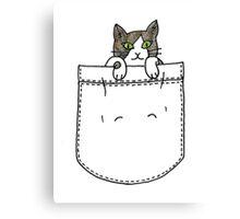 Kitten Pocket Pal. Canvas Print