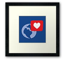 Love notification Framed Print