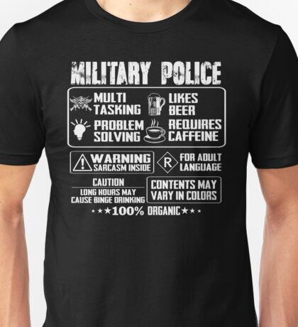 military police wife military police k 9  military police girlfriend m Unisex T-Shirt
