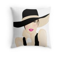 fashion lady Throw Pillow