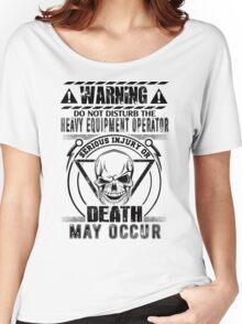 Bolt Heavy Equipment Operators Animated  Arm  Heavy Equipment Operator Women's Relaxed Fit T-Shirt