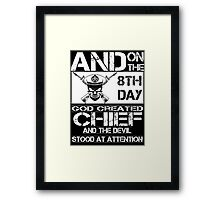 Airplane navy chief navy pride Us Navy navy chief dad navy chief wife  Framed Print