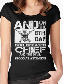 Airplane navy chief navy pride Us Navy navy chief dad navy chief wife  Women's Fitted Scoop T-Shirt