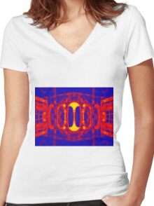 Fiery portal of our nightmares Women's Fitted V-Neck T-Shirt