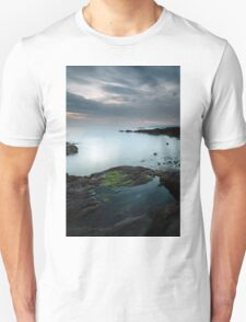 Rock pool by the Sound of Jura at Sunset T-Shirt