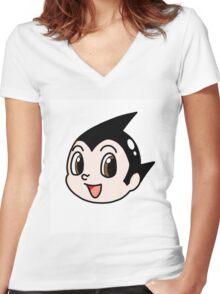 Tetsuwan Atom  Women's Fitted V-Neck T-Shirt