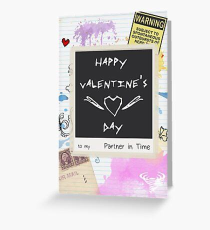 Partner in Time - Card Greeting Card