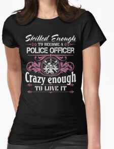 Occupation police officer blue line police officer ninja police office Womens Fitted T-Shirt